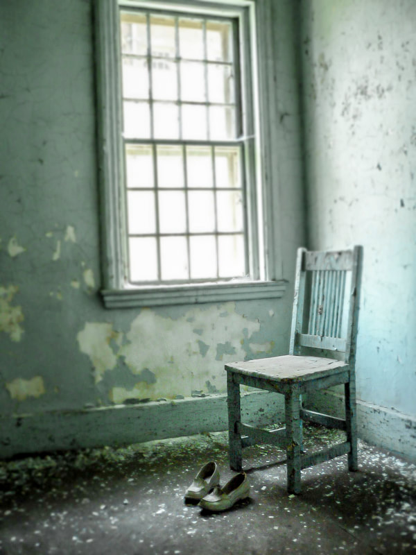 Noted Boston fine art photographer David lee Black photographs interiors of an abandoned Massachusetts insane asylum built in 1874.
