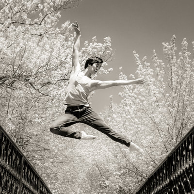 Ballet dancer from the Island Moving Company photographed by fine art photographer David Lee Black at Roger Williams Park, Providence, Rhode Island.