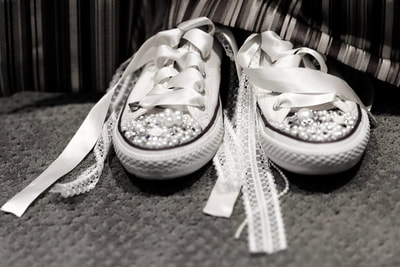 Wedding shoes photographed by New England Wedding photographer David Lee Black in Massachusetts.